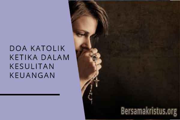 doa katolik ketika dalam kesulitan keuangan