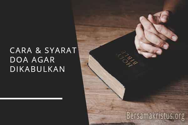 cara syarat doa agar dikabulkan