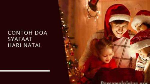 contoh doa syafaat hari natal