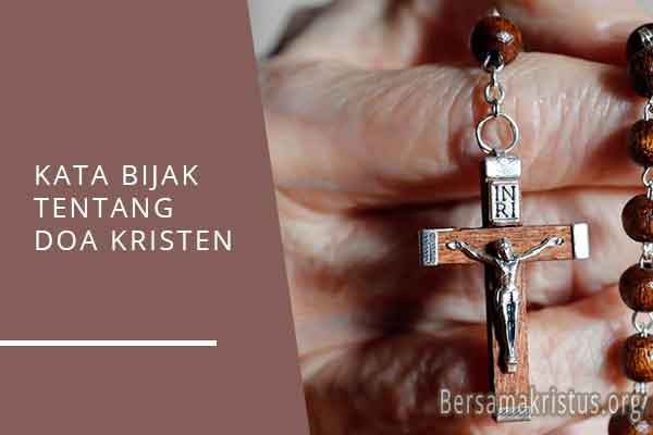 kata bijak tentang doa kristen