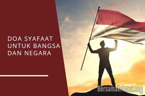 doa syafaat untuk bangsa dan negara