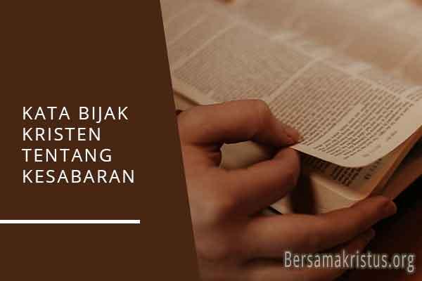 kata bijak kristen tentang kesabaran