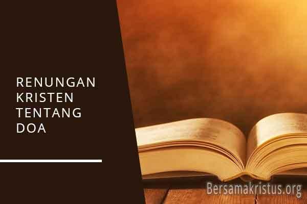 renungan kristen tentang doa