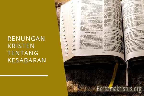 renungan kristen tentang kesabaran
