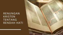 renungan kristen tentang rendah hati