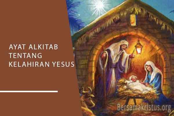 ayat alkitab tentang kelahiran yesus