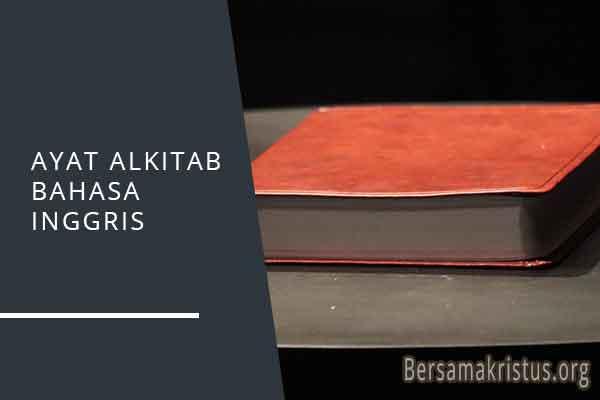 ayat alkitab bahasa inggris
