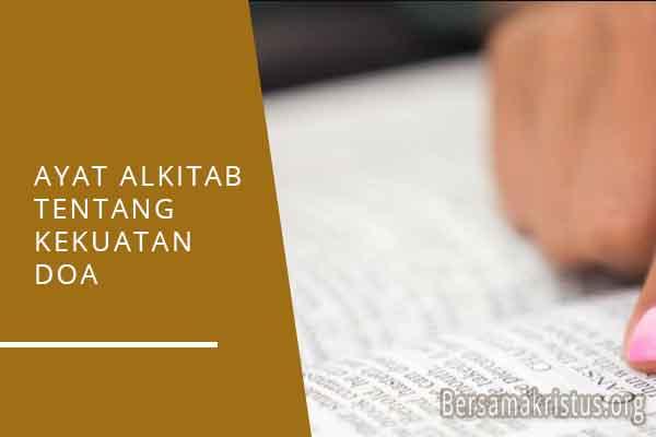 ayat alkitab tentang kekuatan doa