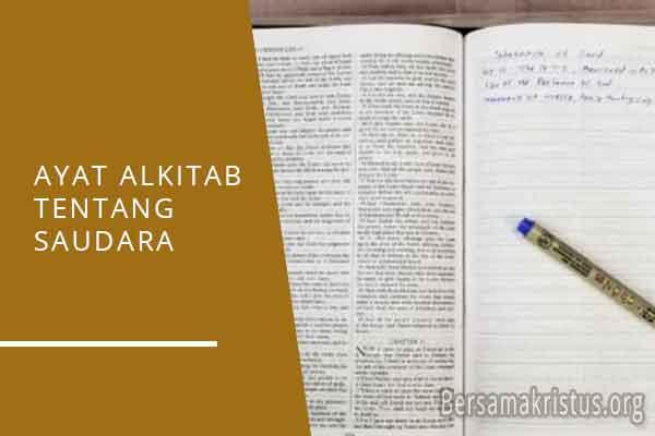 ayat alkitab tentang saudara