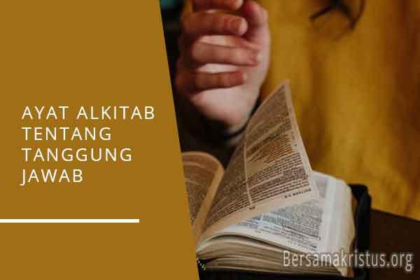 ayat alkitab tentang tanggung jawab