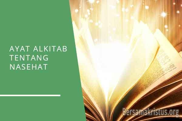 ayat alkitab tentang nasehat