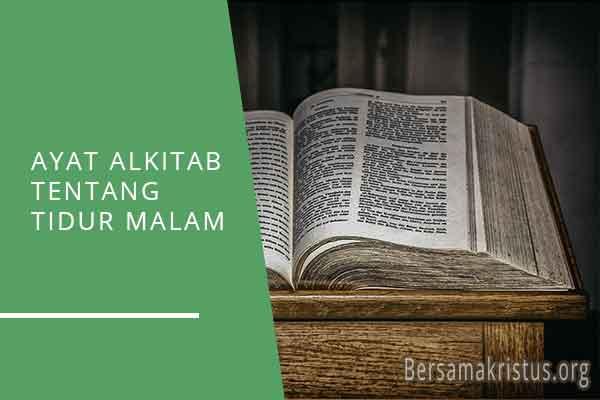 ayat alkitab tentang tidur malam
