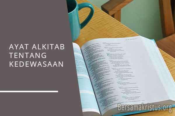 ayat alkitab tentang kedewasaan