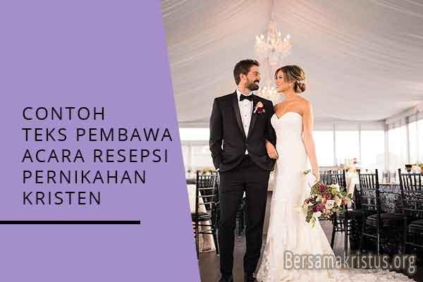 contoh teks pembawa acara resepsi pernikahan kristen