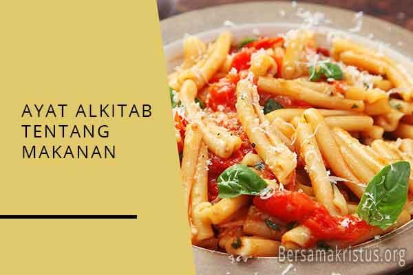 ayat alkitab tentang makanan
