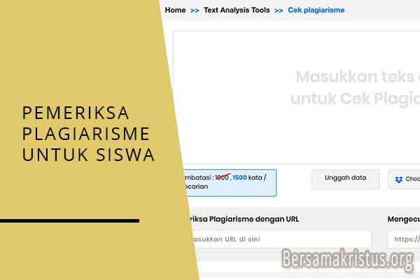 pemeriksa plagiarisme untuk siswa