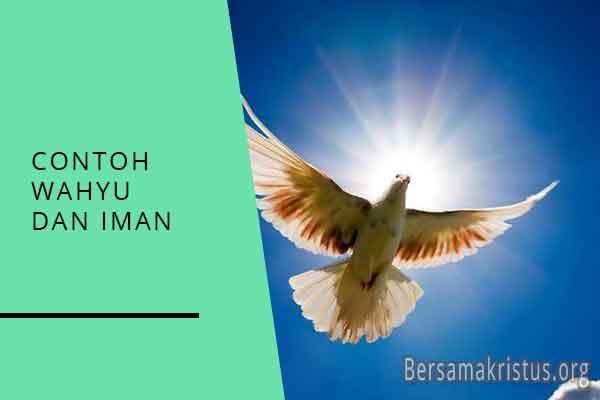 contoh wahyu dan iman